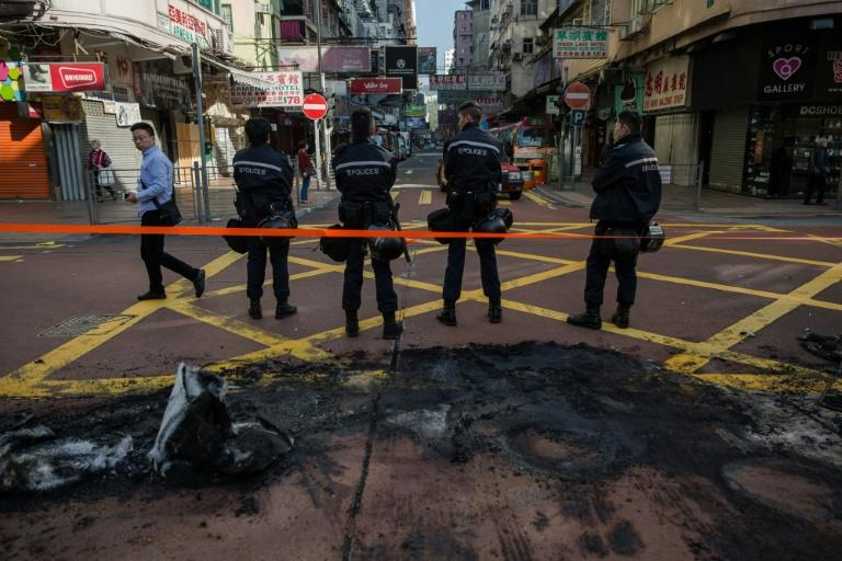 "During clashes dubbed the ""fishball revolution"" demonstrators hurled bricks torn up from pavements, charged police lines with homemade shields and set rubbish on fire"
