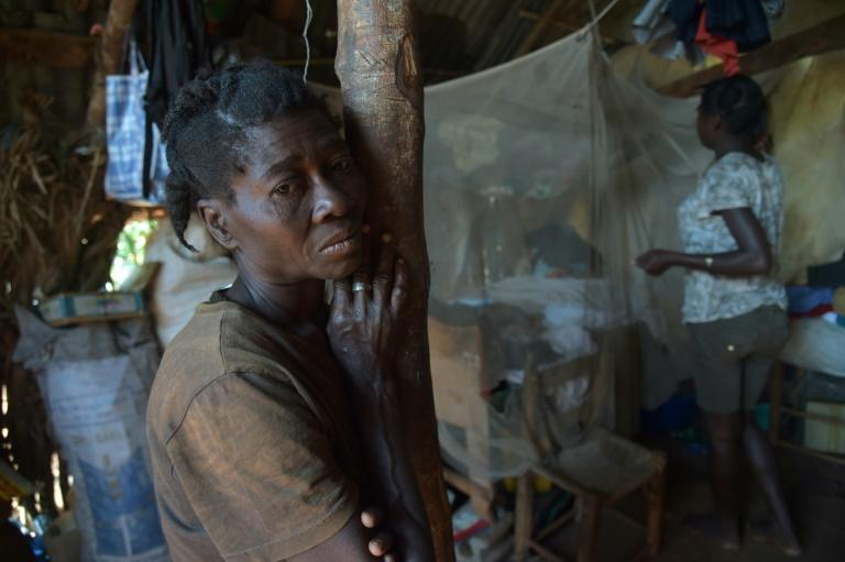 Every time it rains Margeurtie Fanfan and her family must take shelter in a nearby cave, after their home was seriously damaged by Hurricane Matthew as it swept across Haiti in October 2016