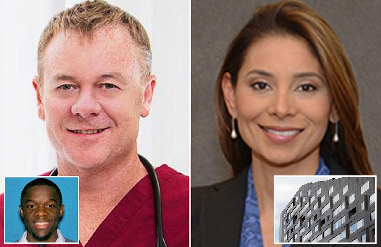 """Dr. Richard Field and his fiancée, Dr. Lina Bolanos, <a href=""""http://people.com/crime/boston-doctors-found-bound-throats-slit-in-home/"""" target=""""_blank"""">were found dead on May 5, 2017</a>, in Field's $1.9-million luxury penthouse in South Boston. Police said that both doctors' hands were bound and <a href=""""http://people.com/crime/boston-doctor-sent-frantic-text-message-before-he-and-his-fiancee-were-killed-in-their-luxury-penthouse/"""" target=""""_blank"""">their throats had been slit</a> — and that a """"message of retribution"""" had been written in blood on the condo's walls.  The murders occurred in the upscale Macallen Building, which has about 140 condos, most of them occupied by the owners. The building has includes very tight security and a concierge in the front lobby.  A motive <a href=""""http://people.com/crime/boston-doctors-killing-penthouse-lingering-questions/"""" target=""""_blank"""">is unclear</a>, but police say 30-year-old Bampumim Teixeira — who previously worked in the couple's building — was taken into custody after being shot by authorities at the scene. He has been charged with two counts of murder to which he has pleaded not guilty.  A friend described Bolanos and Field <a href=""""http://people.com/crime/boston-doctors-murdered-funeral/"""" target=""""_blank"""">as """"wonderful people""""</a> who were """"loved by many."""""""