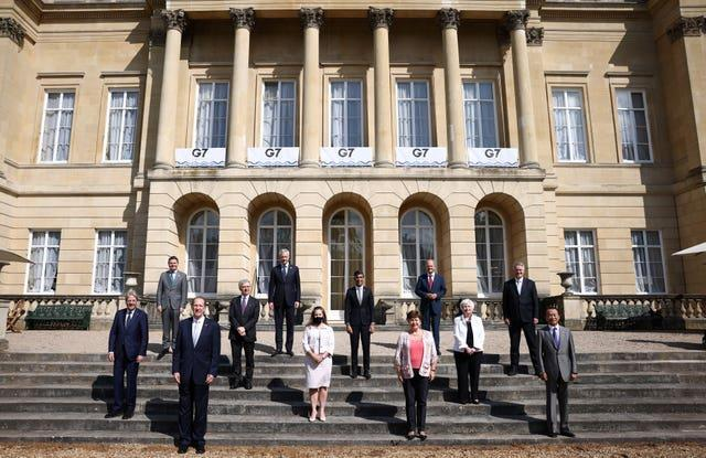 Rishi Sunak with his G7 colleagues