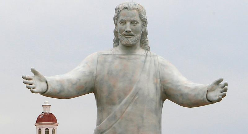 Solid Rock Church is known for its 51-foot tall Jesus statue in Monroe, Ohio. (Photo: Al Behrman/AP)