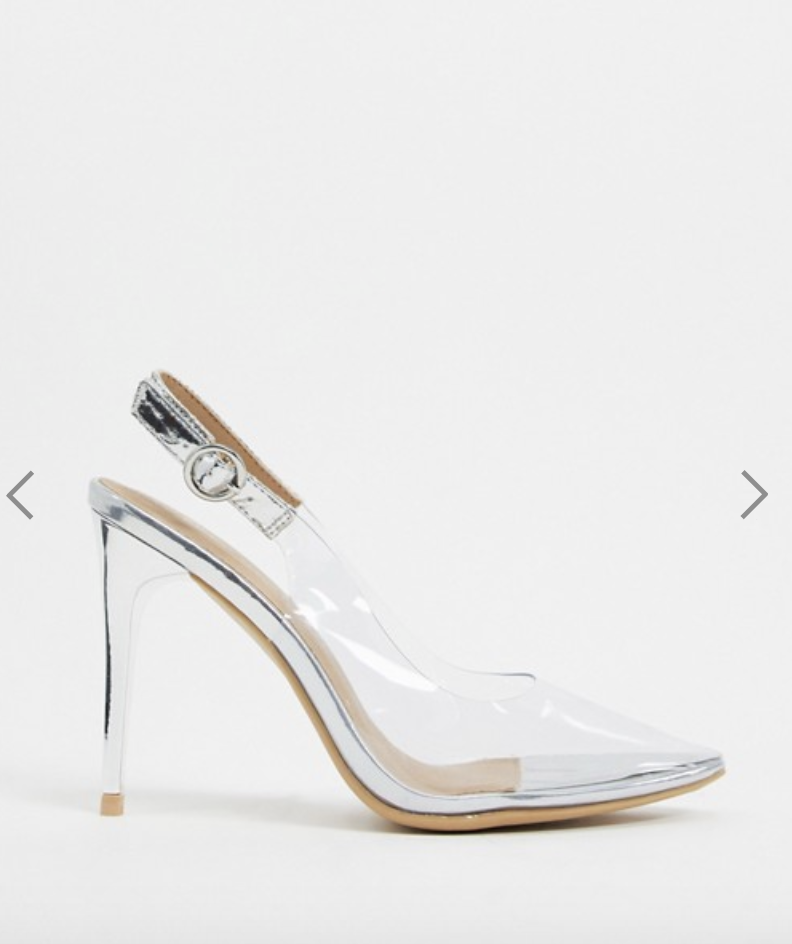 New Look's clear sling back heels are now $26 on ASOS. Photo: ASOS