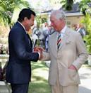 <p>Prince Charles was delighted to see his friend Lionel Richie during his visit to Barbados this spring.</p>