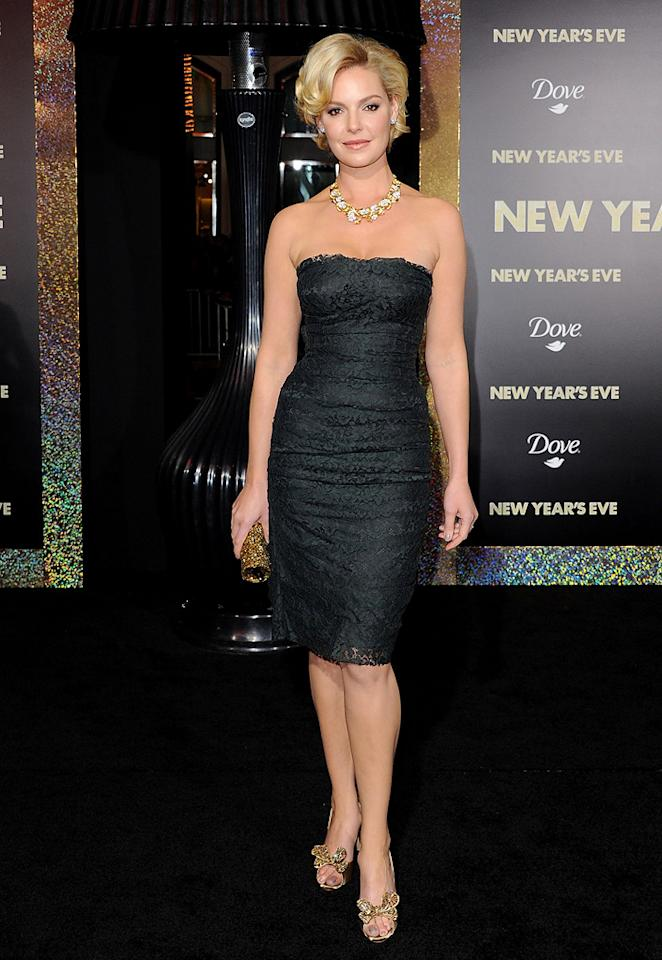 """<a href=""""http://movies.yahoo.com/movie/contributor/1800018759"""">Katherine Heigl</a> at the Los Angeles premiere of <a href=""""http://movies.yahoo.com/movie/1810219047/info"""">New Year's Eve</a> on December 5, 2011."""