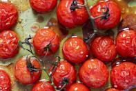 <p>Keeping your tomatoes at room temperature will ensure they'll have optimal flavor and juiciness.</p>
