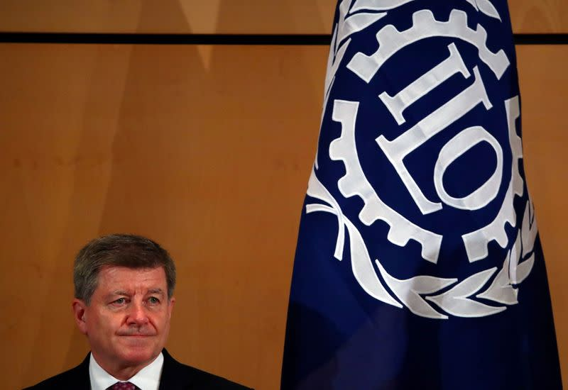 FILE PHOTO: Director-General of the ILO Ryder attends the 108th ILO International Labour Conference in Geneva