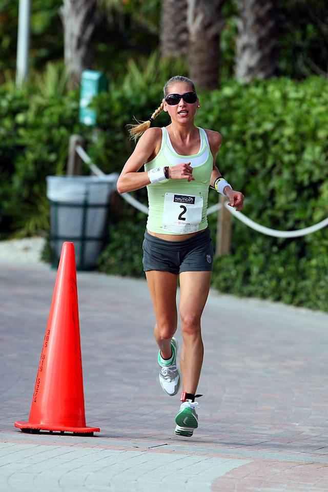 "Anna Kournikova competes as part of a celebrity relay team at the first annual Nautica South Beach Triathlon in Miami. The former tennis pro ran the four-mile leg of the race. JR/<a href=""http://www.x17online.com"" target=""new"">X17 Online</a> - April 13, 2008"