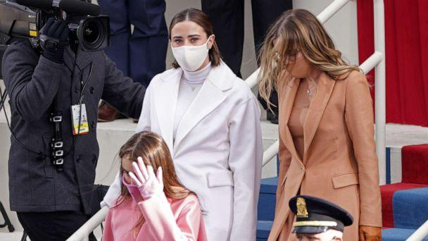 PHOTO: Naomi Biden and Natalie Biden, granddaughters of President Joe Biden, arrive to his inauguration on the West Front of the U.S. Capitol on Jan. 20, 2021, in Washington, D.C. (Alex Wong/Getty Images)