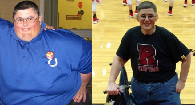 Stanley lost more than 221kg in 2015 when his doctor told his he wouldn't make it to his next birthday. Photo: Stanley Hollar