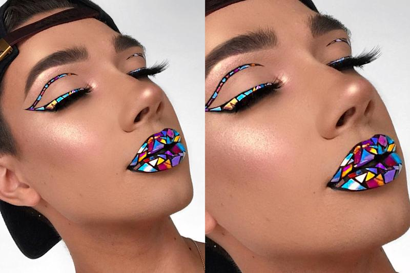 Stained-glass makeup will make you stop and stare at how mesmerizing it is.