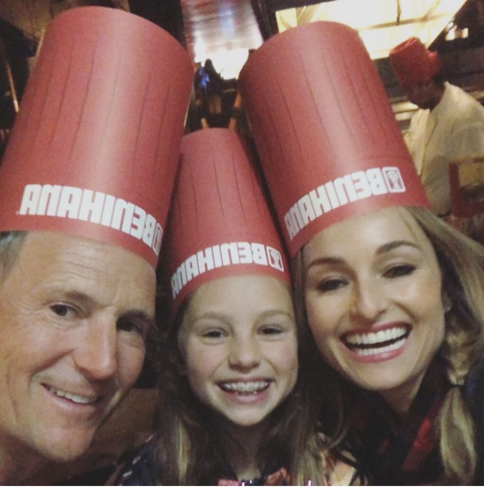 "<p>Making it work for the kid! The celebrity chef and her ex-husband, designer Todd Thompson, came together to celebrate their daughter Jayde's 10th birthday. The threesome posed with big smiles in their Benihana hats for the celebratory dinner. (Photo: <a rel=""nofollow"" href=""https://www.instagram.com/p/Bg7p8aTHc9u/?taken-by=giadadelaurentiis"">Giada DeLaurentiis via Instagram</a>) </p>"