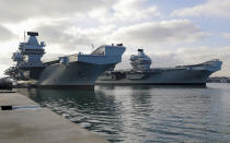 Image of HMS Queen Elizabeth (background) and HMS Prince of Wales (foreground), seen here at Portsmouth (Picture: UK MOD/Crown 2019)