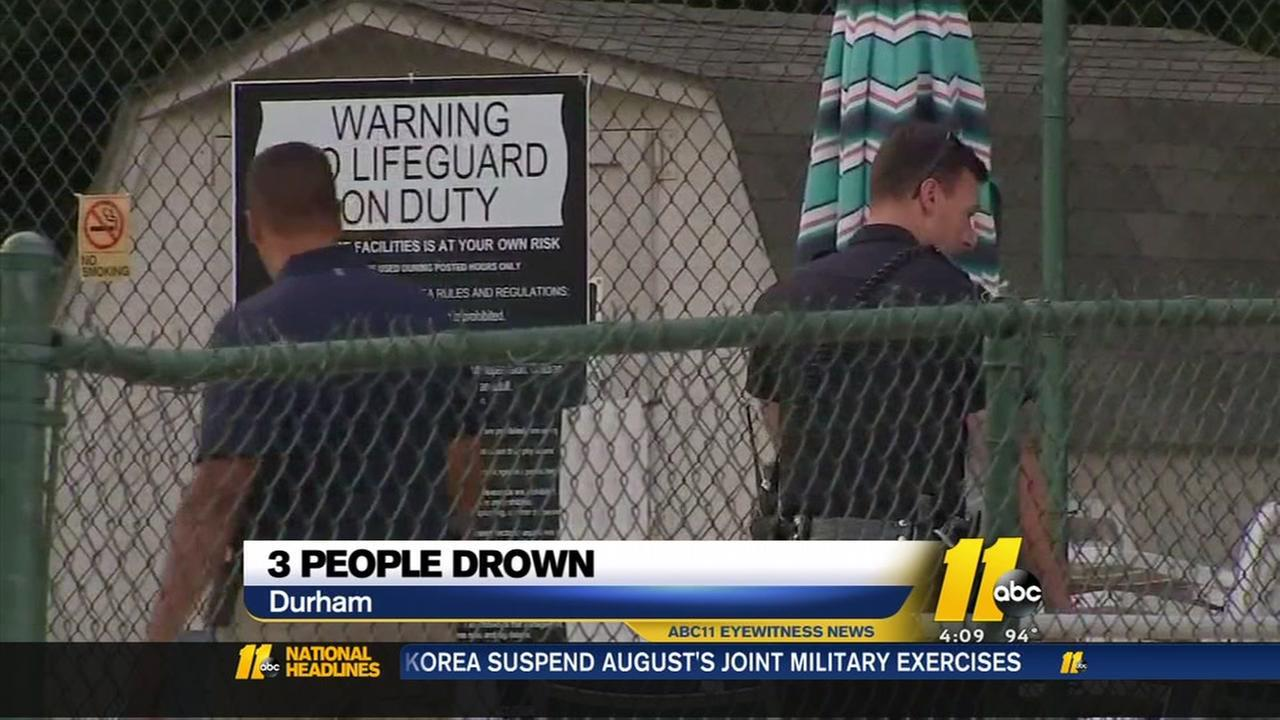 Three people are dead after being pulled from a pool, unresponsive, early Tuesday morning.