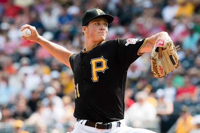 Pittsburgh's Tyler Glasnow should be a regular in the Pirates starting rotation in 2017. (Getty Images)