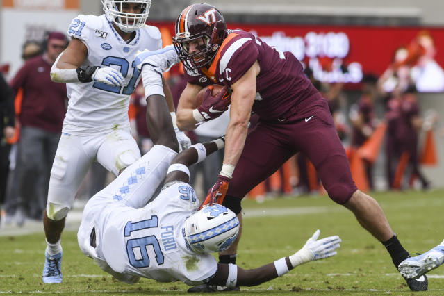 Virginia Tech needed six overtimes to beat North Carolina. (Photo by Michael Shroyer/Getty Images)