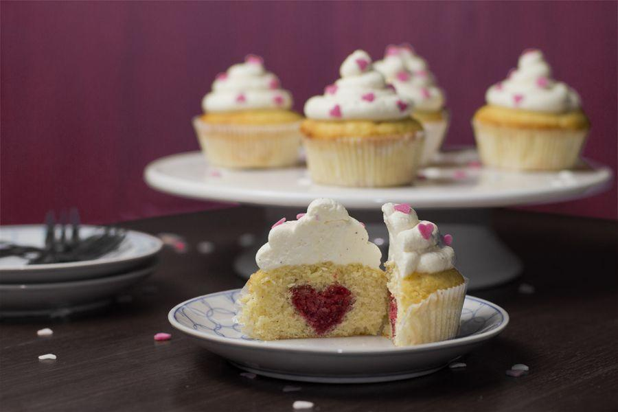 """<p>Slice these cupcakes in half to reveal their sweet (heart-shaped) surprise!</p><p><a href=""""http://look-what-i-made.com/2014/01/28/valentines-day-cupcakes/"""" rel=""""nofollow noopener"""" target=""""_blank"""" data-ylk=""""slk:Get the recipe from Look What I Made »"""" class=""""link rapid-noclick-resp""""><em>Get the recipe from Look What I Made »</em></a></p>"""