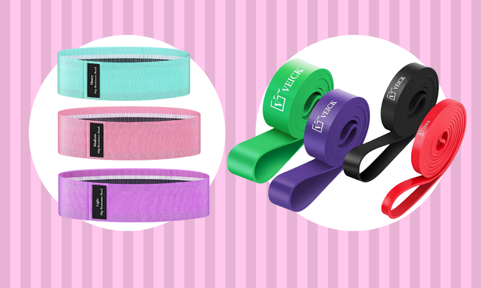 Save up to 50 percent off resistance bands, just for today. (Photo: Amazon)