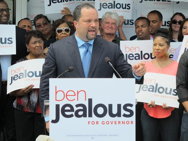 Ben Jealous announces his campaign for governor of Maryland during a rally in Baltimore, May 31, 2017. (Photo: Brian Witte/AP)