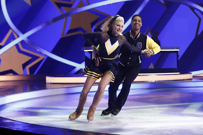 Caprice skated with Oscar Peter for her final week in the competition (Photo: Matt Frost/ITV/Shutterstock)