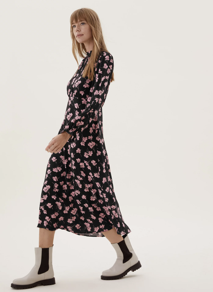 From a feminine pink design, to more classic muted monochrome, there's bound to be a print to suit you. (Marks & Spencer)