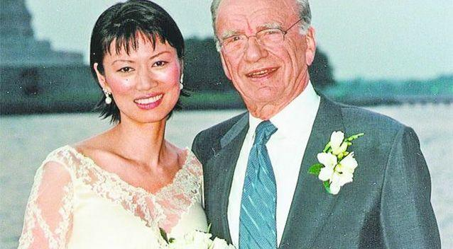 Billionaire media mogul Rupert Murdoch and Wendi Deng on their wedding day. Photo: AP.