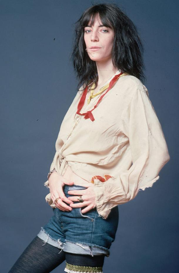 Punk rock singer and poet Patti Smith poses for a studio portrait. (Photo by Lynn Goldsmith/Corbis/VCG via Getty Images)