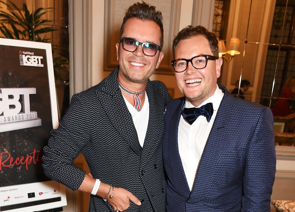 LONDON, ENGLAND - MAY 12:  Paul Drayton (L) and Alan Carr attend the British LGBT Awards at The Grand Connaught Rooms on May 12, 2017 in London, England.  (Photo by David M Benett/Dave Benett/Getty Images)