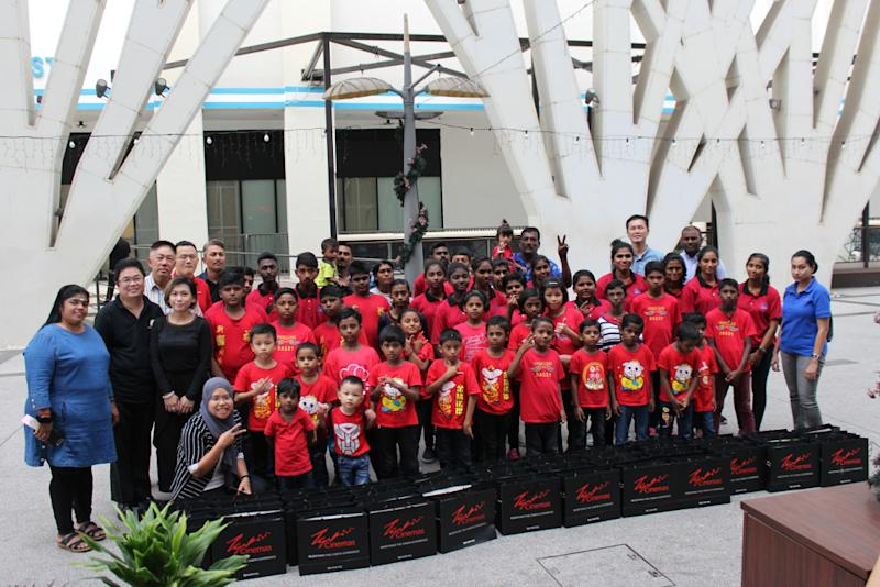 The children got to take home exciting goodie bags filled with gifts from TGV Cinemas and Redberry Ambient. — Picture courtesy of Redberry Ambient