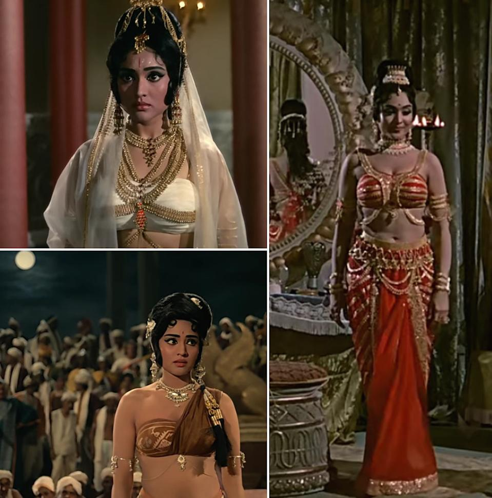 Vyjayanthimala's highly-discussed costumes from Amrapali.