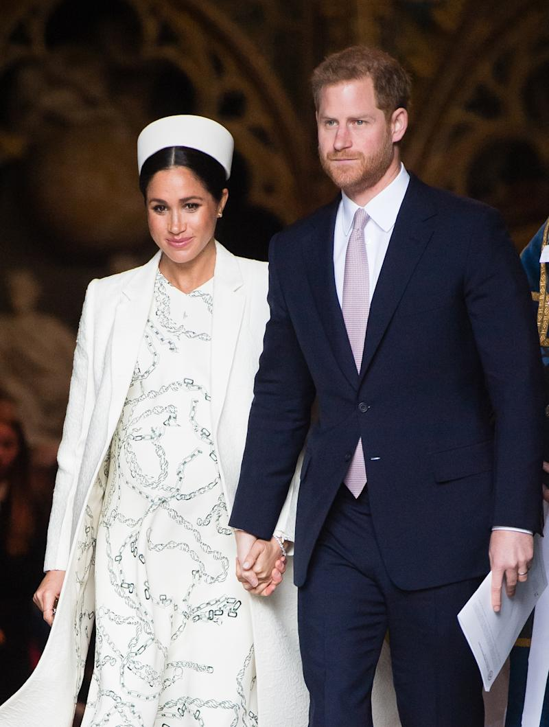 Prince Harry, Duke of Sussex and Meghan, Duchess of Sussex attend the Commonwealth Day service at Westminster Abbey on March 11, 2019 in London, England.