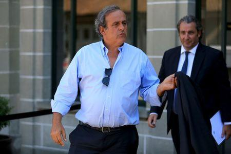 Former UEFA President Michel Platini (L) leaves the Court of Arbitration for Sport (CAS) after being heard in the arbitration procedure involving him and the FIFA in Lausanne, Switzerland, August 25, 2016. REUTERS/Pierre Albouy Picture Supplied by Action Images