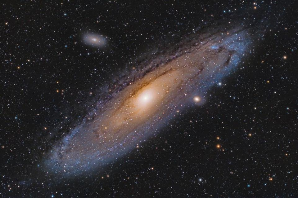 "Some pretty amazing things happen over in Andromeda, which is the galaxy right next to our own Milky Way. That includes the M31N 2008-12a star, which is actually a ""recurrent nova."" That means it erupts regularly, <a href=""https://www.nature.com/articles/s41586-018-0825-4"" rel=""nofollow noopener"" target=""_blank"" data-ylk=""slk:shedding a shell of its outer layer into space"" class=""link rapid-noclick-resp"">shedding a shell of its outer layer into space</a> approximately once a year, according to the journal <em>Nature</em>."