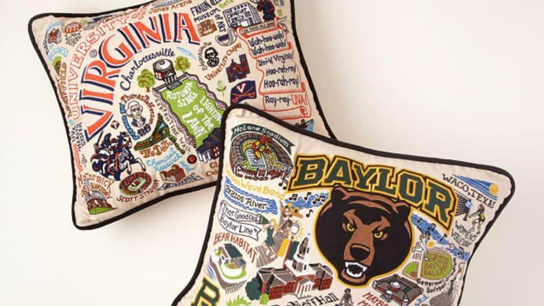 Best personalized grad gifts: Embroidered pillow