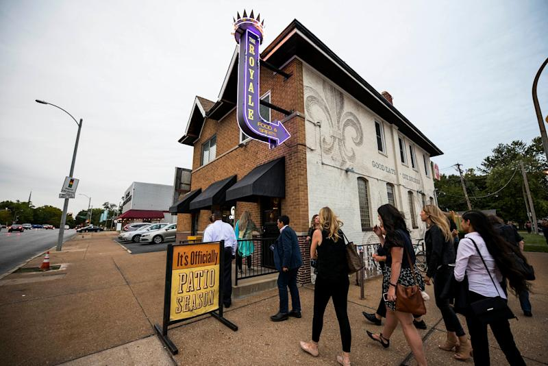 """At The Royale before the """"Three Years After Ferguson: Seeking Solutions in St. Louis""""€ event."""
