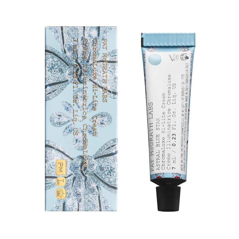 "<p>""Squeeze the <a href=""https://www.allure.com/story/pat-mcgrath-nyfw-euphoria-makeup-essay?mbid=synd_yahoo_rss"">Pat McGrath</a> Labs Chromaluxe Hi-Lite Cream out of the ointment-like foil tube to reveal a white paste. As you rub it into skin, it transforms into the sparkliest blue pigment I've ever graced my face with. Depending on how the light hits it, it shifts to a shimmering lilac. Trust me when I say, it looks incredibly dreamy at all angles, though. You can tap it onto your cheekbones for an otherworldly glow, but I prefer to add it to my lids for an easy, glitzy look."" — <em>Devon Abelman, digital beauty editor</em></p> <p><strong>$30</strong> (<a href=""https://www.patmcgrath.com/products/chromaluxe-hi-light-cream"" rel=""nofollow"">Shop Now</a>)</p>"