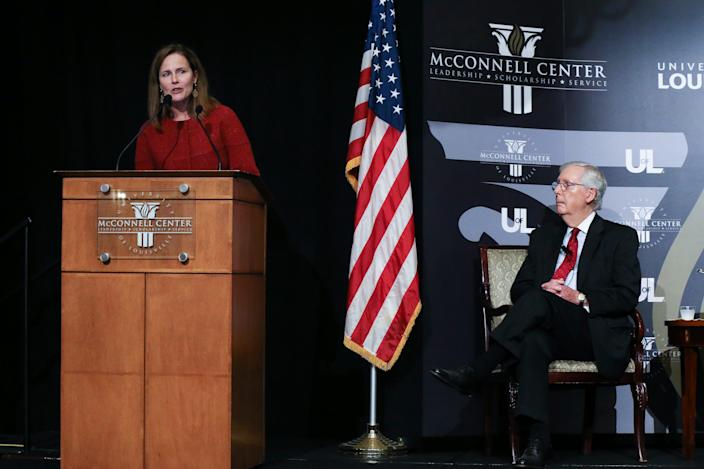 Justice Amy Coney Barrett argues Supreme Court isn't 'a bunch of partisan hacks'