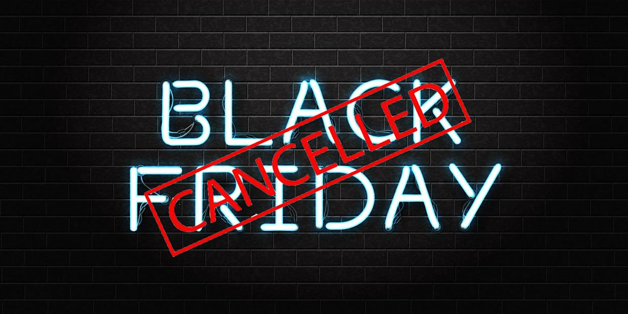 From plunging profits to a charitable stance, the reasons why brands are turning their backs on Black Friday this year [Photo: Getty/Yahoo Style UK]