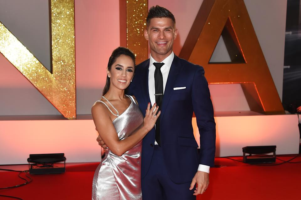 LONDON, ENGLAND - JANUARY 22:  Janette Manrara (L) and Aljaz Skorjanec attend the National Television Awards held at The O2 Arena on January 22, 2019 in London, England.  (Photo by David M. Benett/Dave Benett/Getty Images)