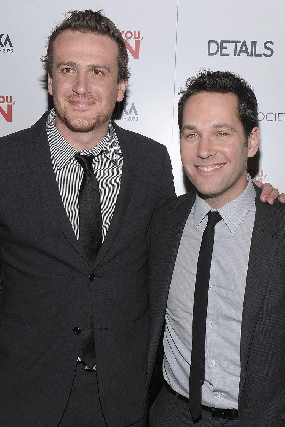"""<p>While talking about their newest movie, <em>I Love You Man</em>, Segel and Rudd very subtly (but not that subtly) hint that <a href=""""https://www.youtube.com/watch?v=I4ix1HSzpWE"""" rel=""""nofollow noopener"""" target=""""_blank"""" data-ylk=""""slk:they are both stoned"""" class=""""link rapid-noclick-resp"""">they are both stoned</a>. At the beginning of the interview they go back and forth naming other movies with """"bromance"""" storylines, and everything they name happens to have the word """"stone"""" in it. Then they start talking about Segel's imaginary friend and can't stop laughing. </p>"""