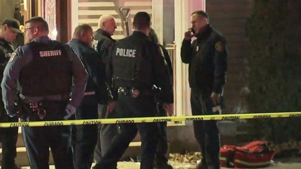 PHOTO: Police respond to a house in the New York City suburb of Monsey, New York, where officials say five Hasidic Jews were stabbed during a Hanukkah celebration, Dec. 28, 2019. (WABC)