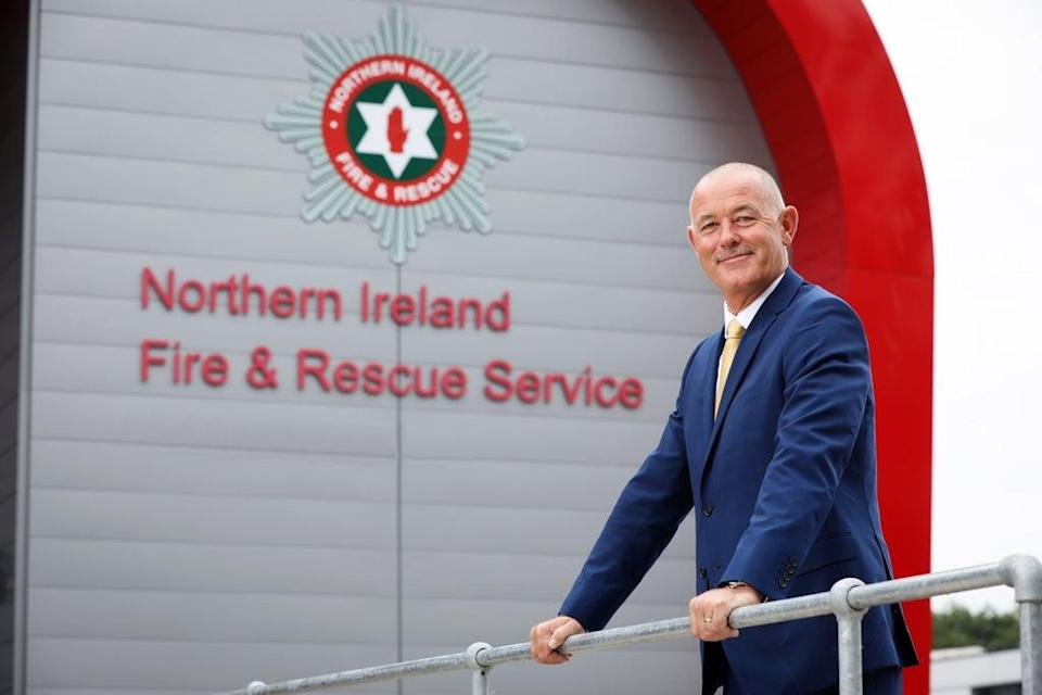 Handout photo issued by Press Eye of Peter O'Reilly who has been appointed by the Northern Ireland Fire & Rescue Service (NIFRS) as their new chief officer announced by Health Minister Robin Swann (PA) (PA Media)