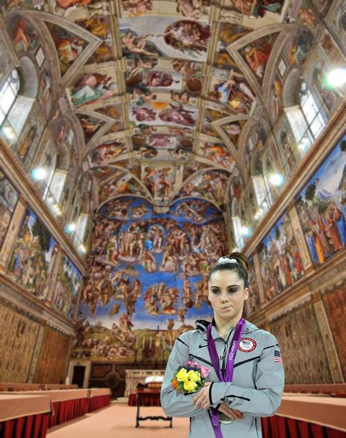 McKayla Maroney is definitely not impressed by the Sistine Chapel.