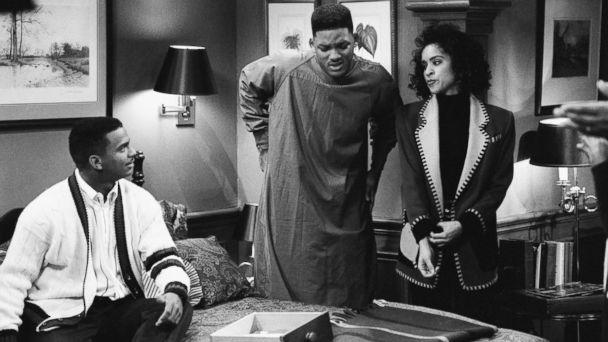 PHOTO: From the left, Alfonso Ribeiro as Carlton Banks, Will Smith as William 'Will' Smith, Karyn Parsons as Hilary Banks in 'The Fresh Prince of Bel-Air.' (Getty Images)