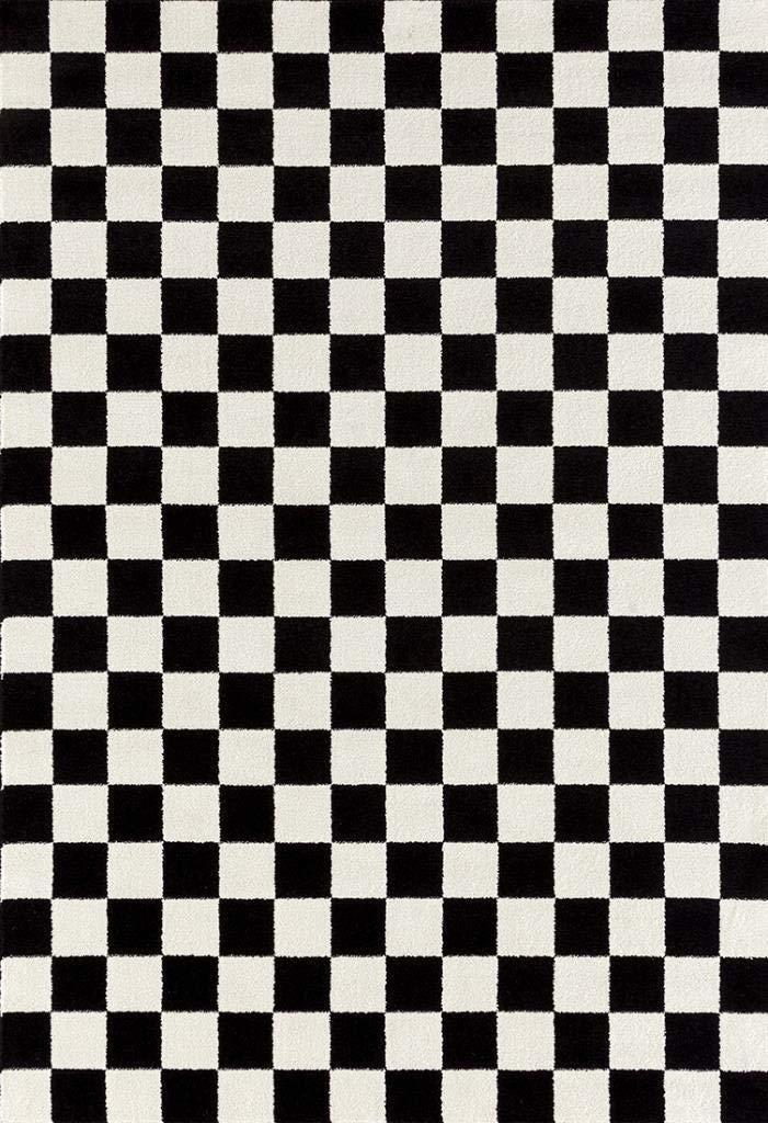 """<h2>1909 Checkered Black & White Area Rug Carpet</h2><br>And if you're not into the whole bath-math-as-a-rug thing, then we've got the real deal for you right here. A checkered statement style that's substantial enough to cover any 5-by-7-foot space. <br><br><em>Shop <strong><a href=""""https://amzn.to/3s2wwCC"""" rel=""""nofollow noopener"""" target=""""_blank"""" data-ylk=""""slk:Amazon"""" class=""""link rapid-noclick-resp"""">Amazon</a></strong></em><br><br><strong>Persian Area Rugs</strong> Checkered Black & White 5 x 7 Area Rug Carpet, $, available at <a href=""""https://amzn.to/3g3oes3"""" rel=""""nofollow noopener"""" target=""""_blank"""" data-ylk=""""slk:Amazon"""" class=""""link rapid-noclick-resp"""">Amazon</a>"""