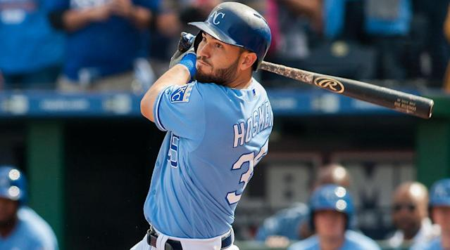 Former Royals first baseman Eric Hosmer is another big free agent on the Padres radar. (AP)