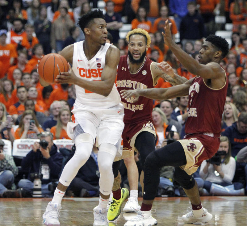 Battle Boeheim Help Syracuse Hold Off Boston College