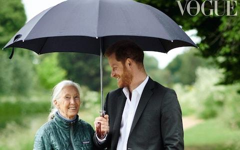 Prince Harry recently spoke to Jane Goodall about racism and 'unconscious bias' in British Vogue - Credit: Chris Allerton