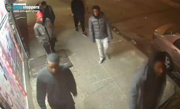 PHOTO: A still image taken from a surveillance video provided by NYPD shows suspects in connection to a mugging of a 60-year-old man on, Dec. 24, 2019 in the the Morrisania neighborhood of the Bronx in New York. (NYPD)