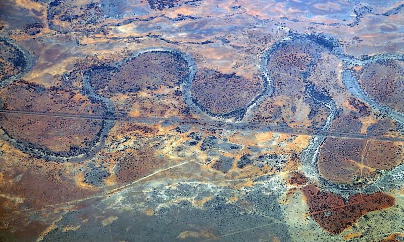 Aerial view of a portion in New South Wales of the Murray–Darling basin