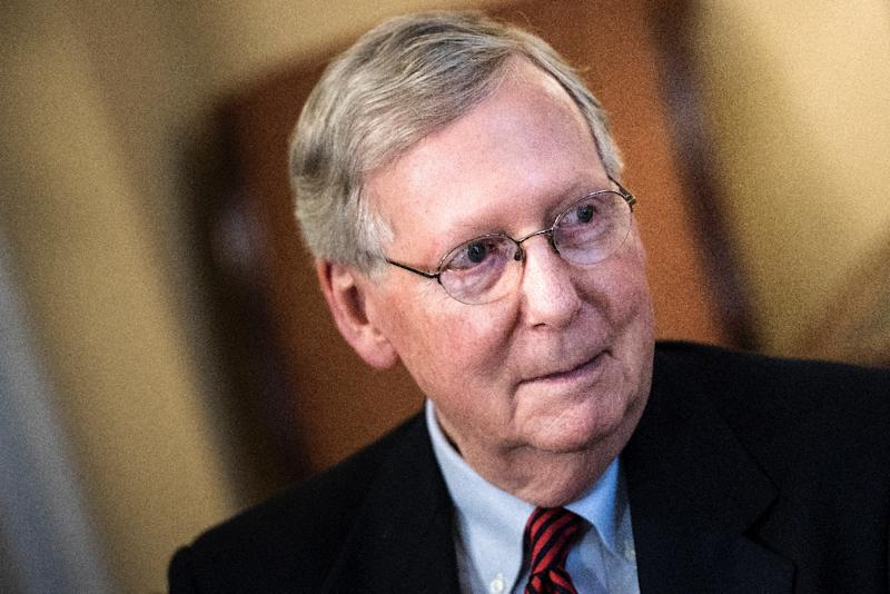 """Senate Majority Leader Senator Mitch McConnell said it was """"highly likely"""" that Michael Flynn would have to testify before an intelligence panel (AFP Photo/Brendan Smialowski)"""